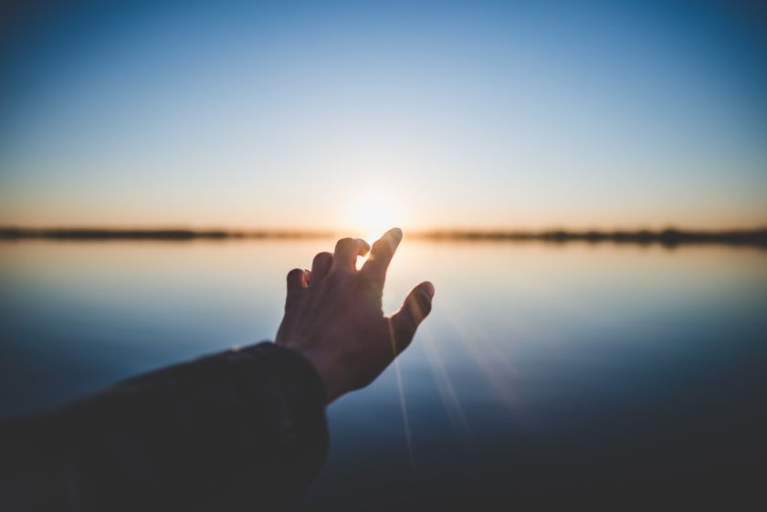 hand in front of the sun